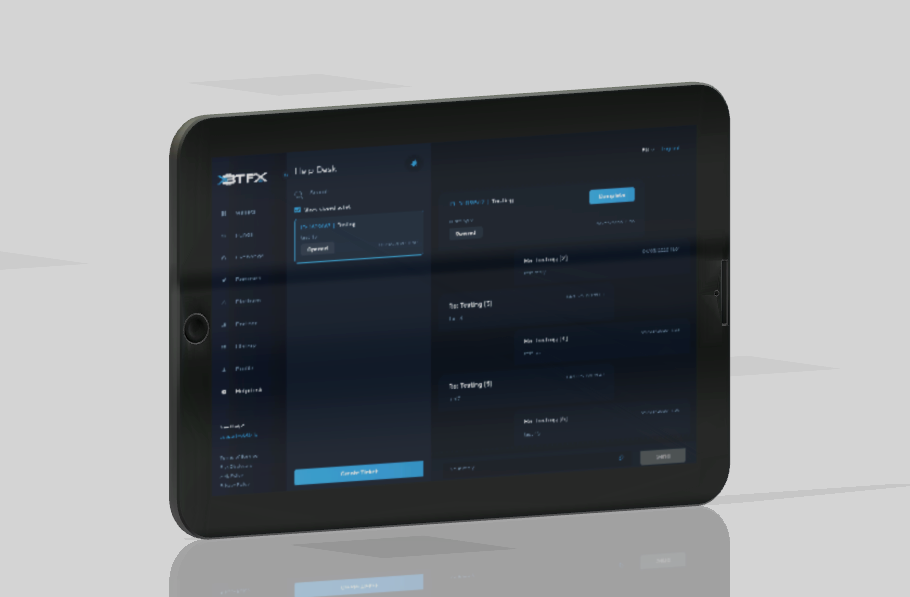 XBTFX Helpdesk added to UI