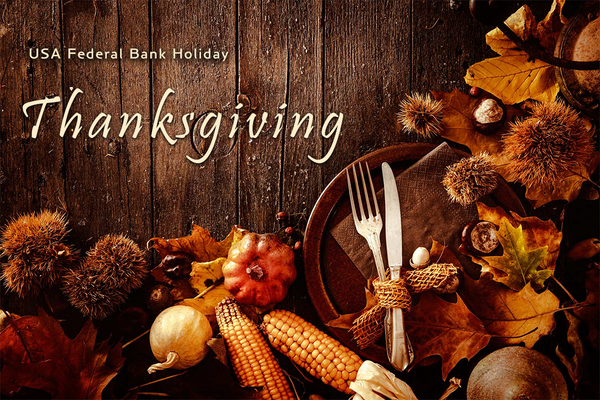 Thanksgiving US Holiday Trading Hours 2020
